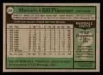 1979 Topps #396  Bill Plummer  Back Thumbnail