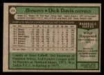 1979 Topps #474  Dick Davis  Back Thumbnail