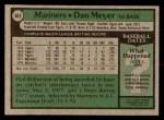 1979 Topps #683  Dan Meyer  Back Thumbnail