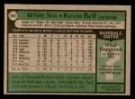 1979 Topps #662  Kevin Bell  Back Thumbnail