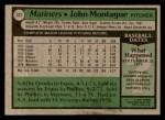 1979 Topps #337  John Montague  Back Thumbnail