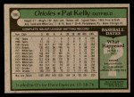 1979 Topps #188  Pat Kelly  Back Thumbnail