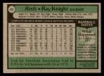 1979 Topps #401  Ray Knight  Back Thumbnail