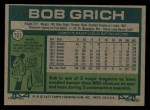 1977 Topps #521  Bobby Grich  Back Thumbnail