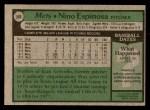 1979 Topps #566  Nino Espinosa  Back Thumbnail