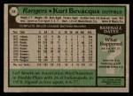 1979 Topps #44  Kurt Bevacqua  Back Thumbnail