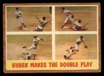 1962 Topps #311   -  Tony Kubek  Makes the Double Play Front Thumbnail