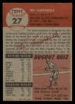 1953 Topps #27  Roy Campanella  Back Thumbnail