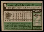 1979 Topps #187  Mark Lemongello  Back Thumbnail