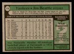 1979 Topps #179  Jim Beattie  Back Thumbnail