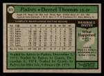 1979 Topps #679  Derrel Thomas  Back Thumbnail