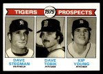 1979 Topps #706   -  Dave Stegman / Dave Tobik / Kip Young Tigers Prospects    Front Thumbnail