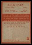 1965 Philadelphia #20  Dick Evey  Back Thumbnail
