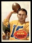 1960 Topps #62  Frank Ryan  Front Thumbnail