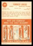 1963 Topps #89  Forrest Gregg  Back Thumbnail