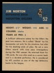 1962 Fleer #52  Jim Norton  Back Thumbnail