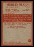 1965 Philadelphia #94  Merlin Olsen  Back Thumbnail