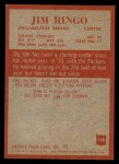 1965 Philadelphia #138  Jim Ringo  Back Thumbnail