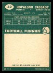 1960 Topps #42  Hopalong Cassady  Back Thumbnail
