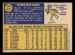 1970 Topps #625  Dean Chance  Back Thumbnail