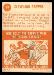 1963 Topps #24   Browns Team Back Thumbnail