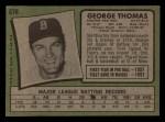 1971 Topps #678  George Thomas  Back Thumbnail