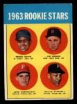 1963 Topps #553   -  Willie Stargell / Jim Gosger / Brock Davis / John Herrnstein Rookies Front Thumbnail