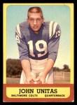 1963 Topps #1  Johnny Unitas  Front Thumbnail