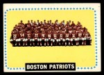 1964 Topps #21   Boston Patriots Team Front Thumbnail