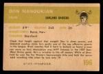 1961 Fleer #196  Don Manoukian  Back Thumbnail