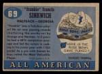1955 Topps #69  Frank Sinkwich  Back Thumbnail