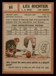 1962 Topps #86  Les Richter  Back Thumbnail