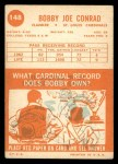 1963 Topps #148  Bobby Joe Conrad  Back Thumbnail