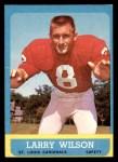 1963 Topps #155  Larry Wilson  Front Thumbnail