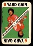 1971 Topps Game #21  Gene Washington  Front Thumbnail