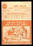 1963 Topps #155  Larry Wilson  Back Thumbnail