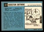 1964 Topps #2  Houston Antwine  Back Thumbnail