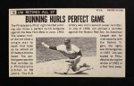 1964 Topps Giants #10  Jim Bunning   Back Thumbnail