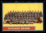 1962 Topps #25   Bears Team Front Thumbnail