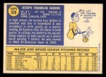 1970 Topps #508  Joe Niekro  Back Thumbnail