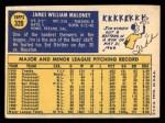 1970 Topps #320  Jim Maloney  Back Thumbnail