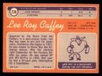 1970 Topps #236  Lee Roy Caffey  Back Thumbnail