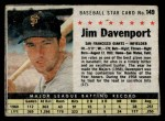 1961 Post #149 BOX Jim Davenport   Front Thumbnail