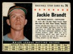 1961 Post #76 BOX Jackie Brandt   Front Thumbnail