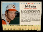1963 Post Cereal #134  Bob Purkey  Front Thumbnail