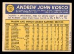 1970 Topps #535  Andy Kosco  Back Thumbnail