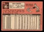 1969 Topps #50  Roberto Clemente  Back Thumbnail