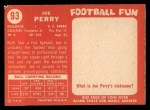 1958 Topps #93  Joe Perry  Back Thumbnail