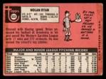 1969 Topps #533  Nolan Ryan  Back Thumbnail