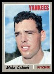 1970 Topps #536  Mike Kekich  Front Thumbnail